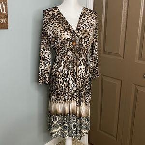 Boston Proper Leopard Print Dress